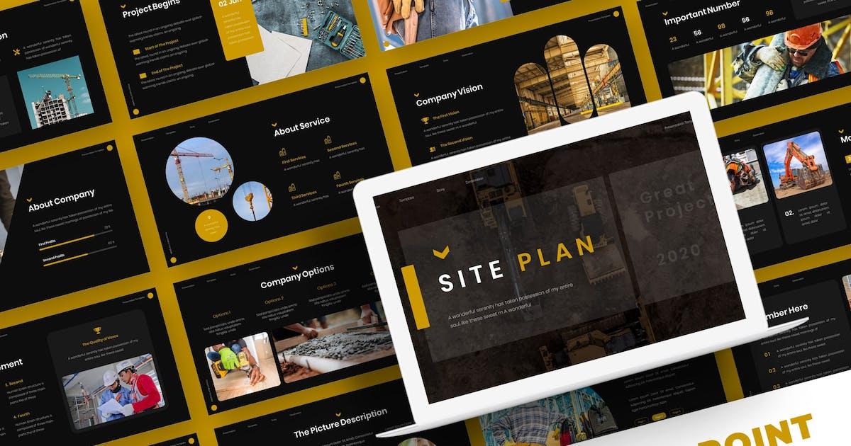 Download Site Plan - Powerpoint Template by karkunstudio