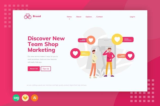 E-commerce Chat Live - Illustration Web