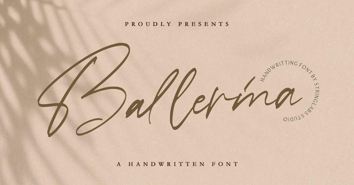 Download Ballerina - Signature Script Font by StringLabs
