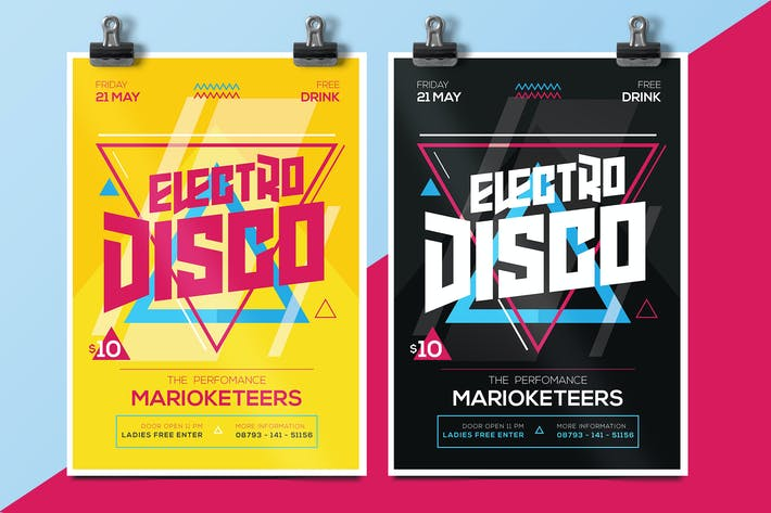 Cover Image For Electro Disco Flyer