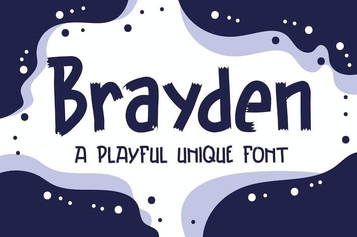 Thumbnail for Brayden Typeface - A Playful Unique Font