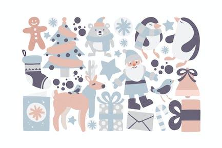 Christmas Pastel Clipart