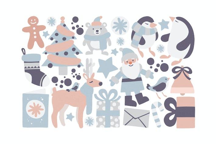 Thumbnail for Recortado en colores pastel de Navidad
