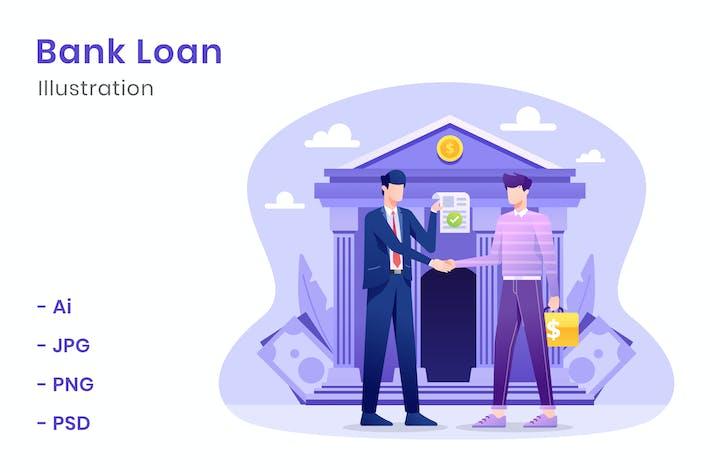 Thumbnail for Ilustración de préstamos bancarios