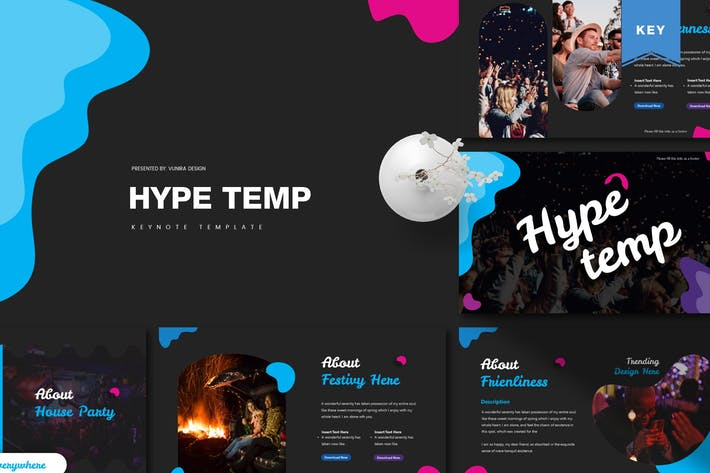 Cover Image For Hype | Keynote Template