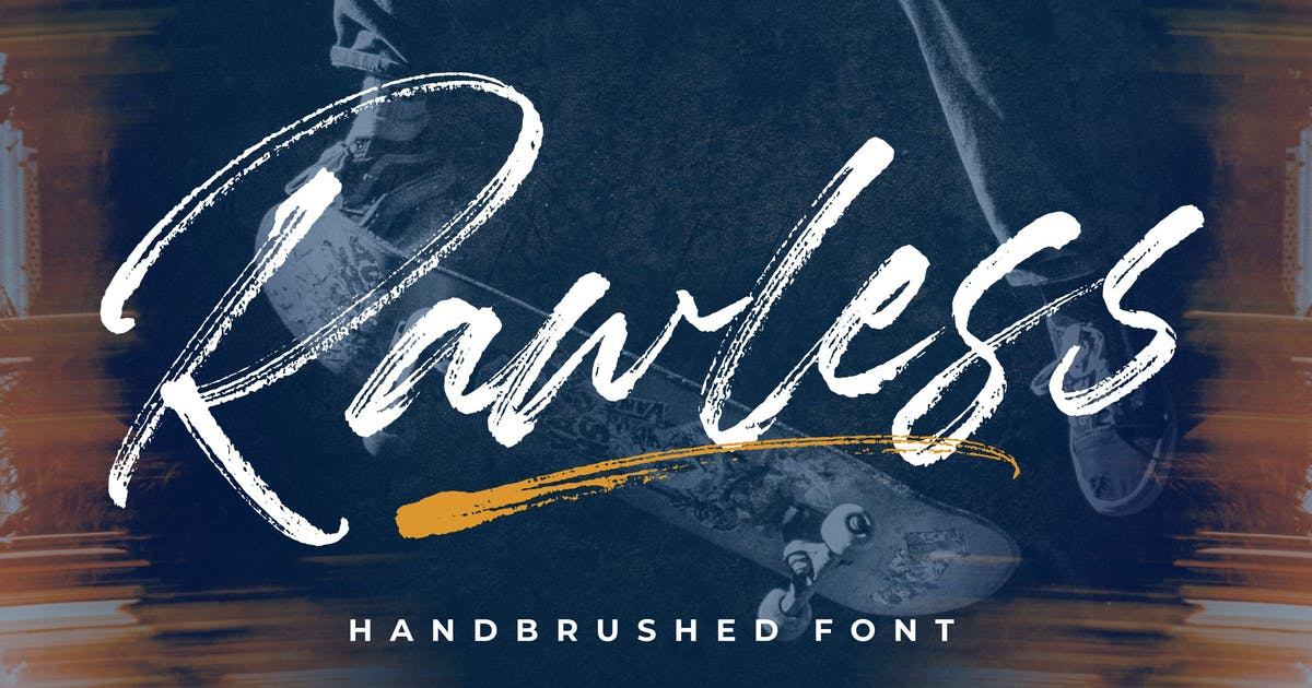 Download Rawless YH - Display Brush Font by GranzCreative