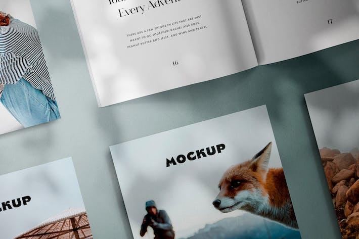Thumbnail for Square Magazines Layout Mockup