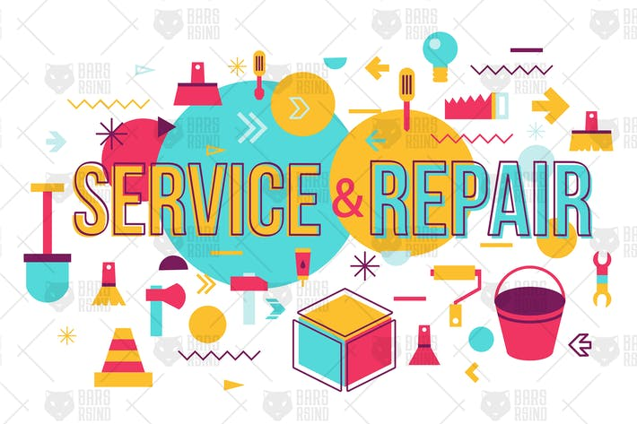 Thumbnail for Repair And Service Banner