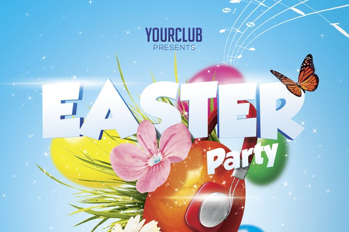 Thumbnail for Easter Party A5 Flyer Template