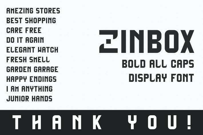 Cover Image For Zinbox - Bold Display Font