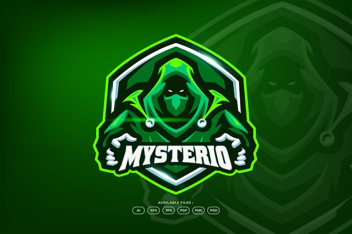 Thumbnail for Mysterious Hacker Online Game Logo Template