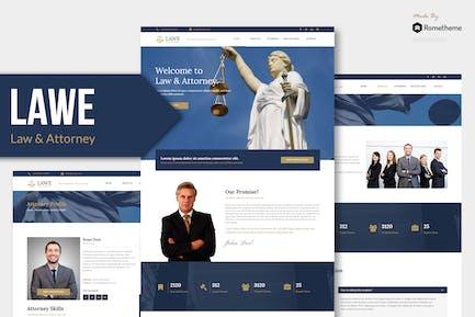 LAWE - Адвокат и адвокат Муза Шаблон YR