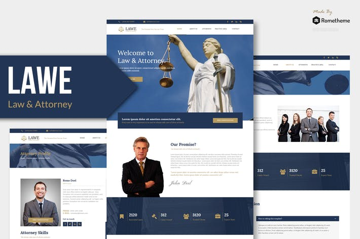Thumbnail for LAWE - Lawyer and Attorney Muse Template