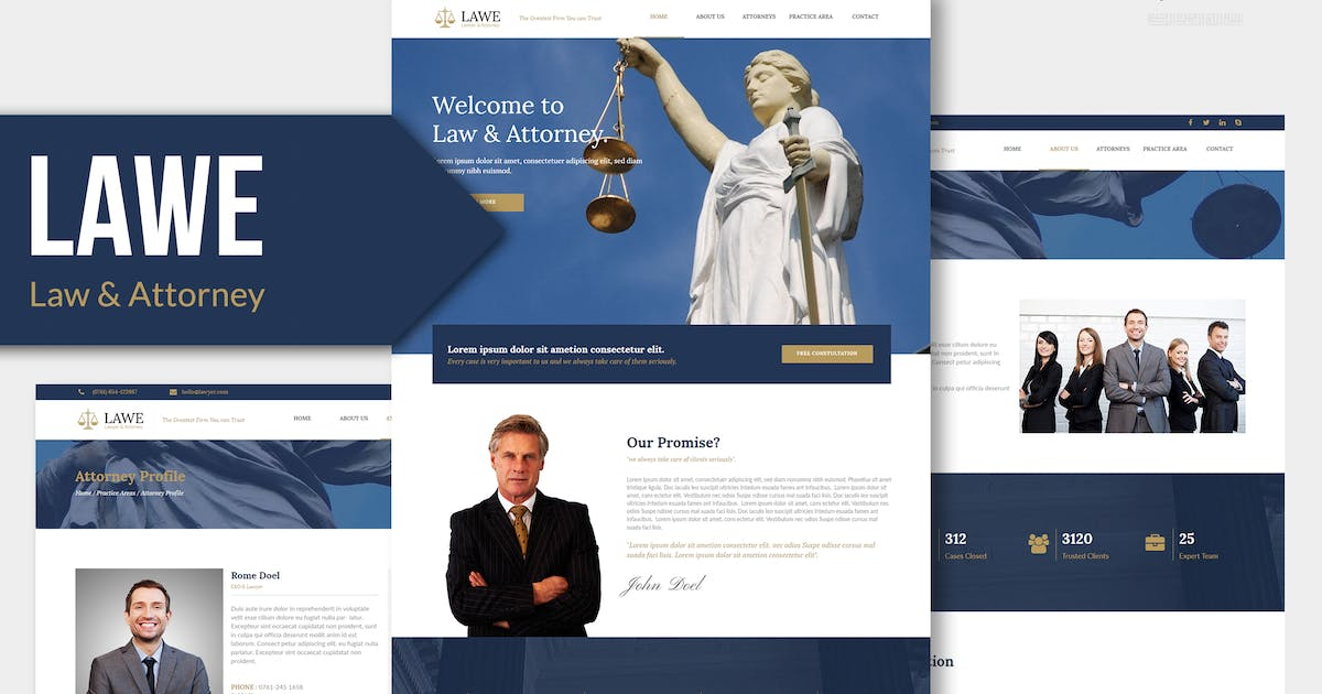 Download LAWE - Lawyer and Attorney Muse Template YR by Rometheme