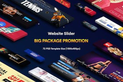Promotion Website Sliders - 72 PSD