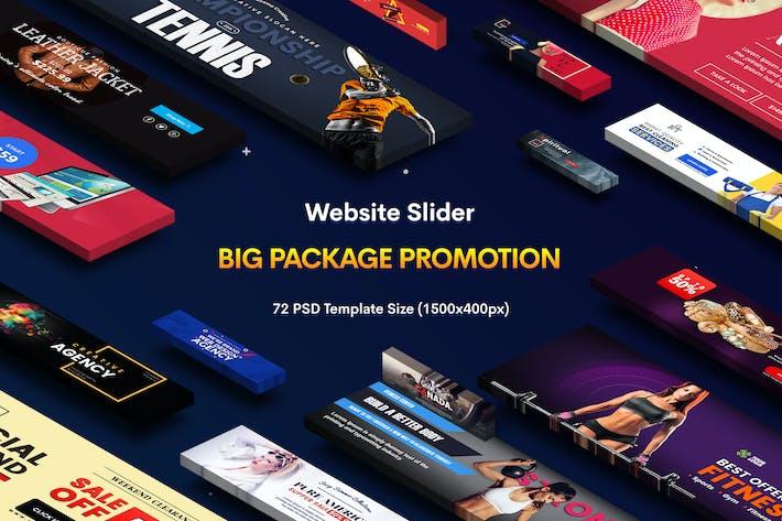 Thumbnail for Promotion Website Sliders - 72 PSD