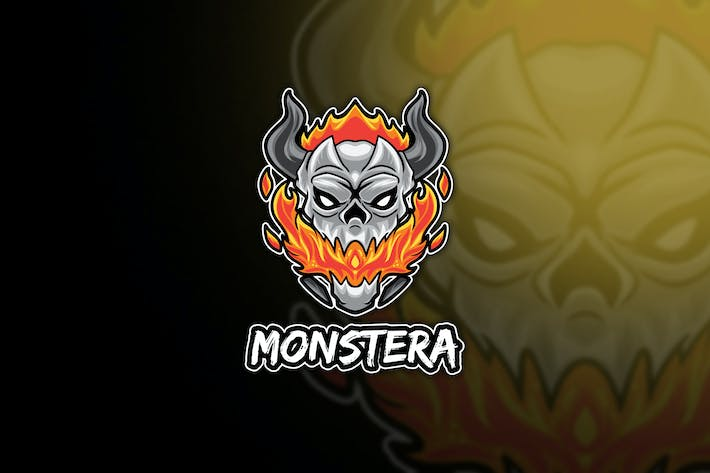 Monstera Skull Esport Logo