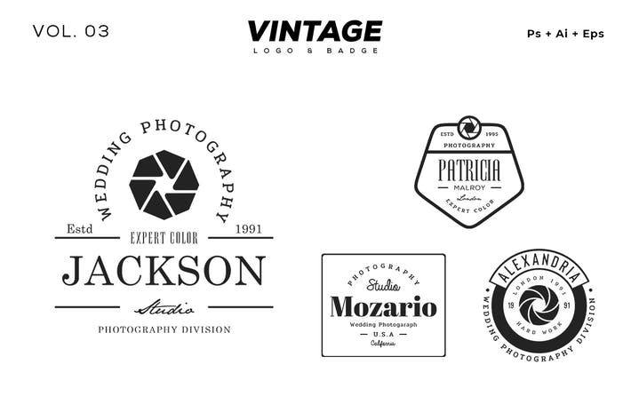 Thumbnail for Vintage Logo & Badge Vol. 3