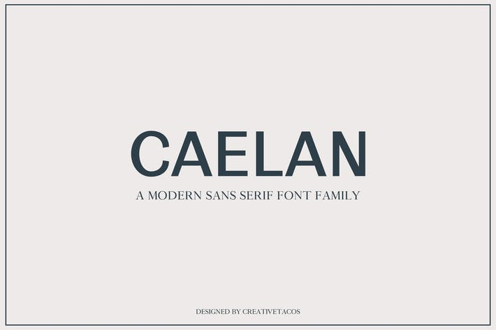 Thumbnail for Calean Sans Serif Font Family
