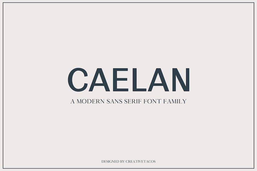 Caelan Sans Serif Font Family