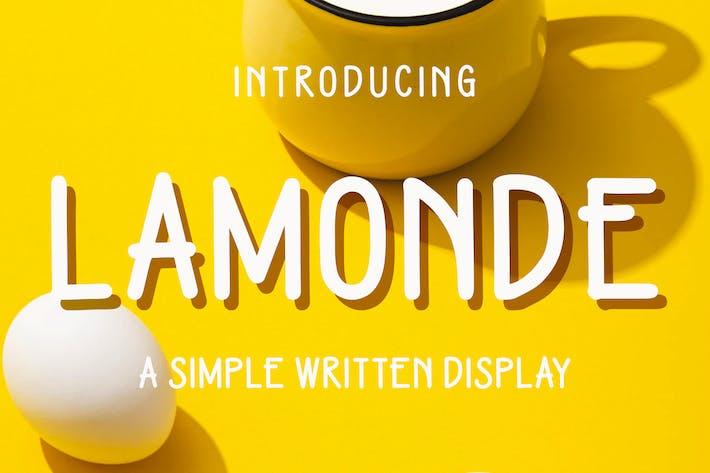 Thumbnail for Lamonde - un affichage écrit simple