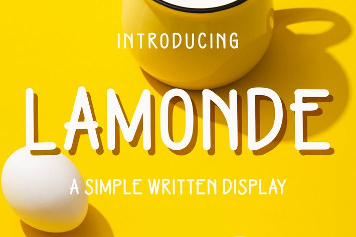 Thumbnail for Lamonde - a Simple Written Display