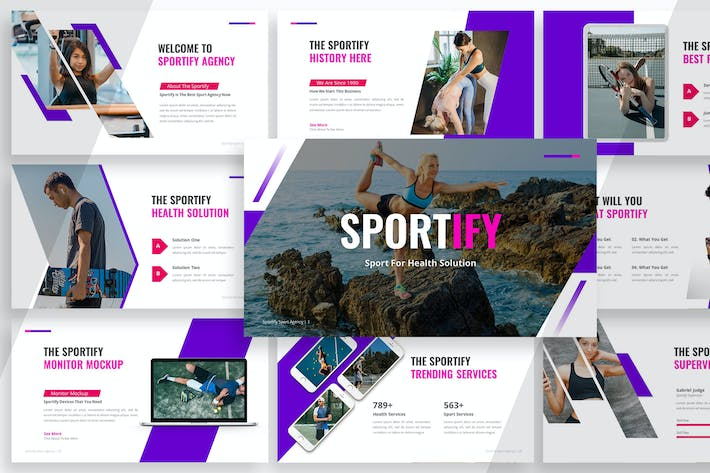 Thumbnail for Sportify - Healthy Sport Google Slides