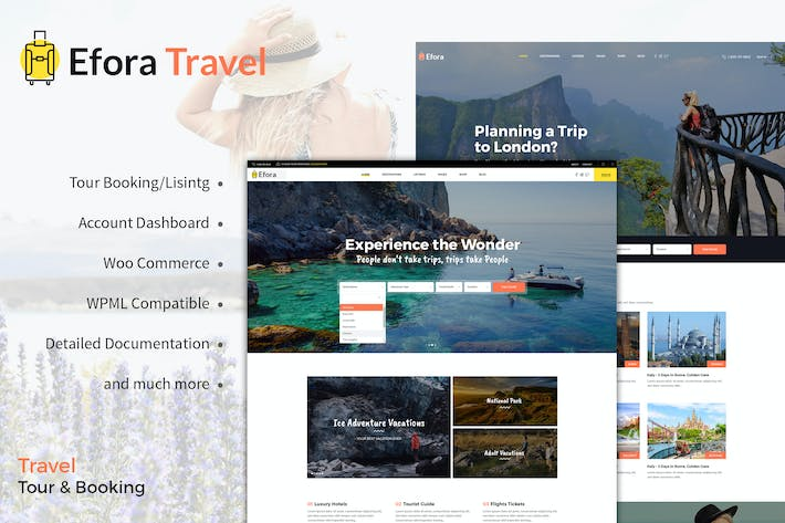 Thumbnail for Efora - WordPress Theme