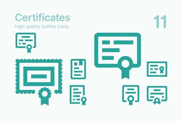 Иконки сертификатов