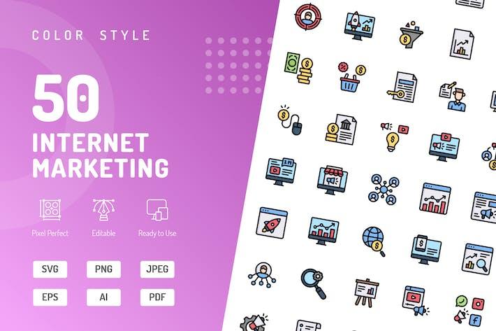 Thumbnail for FarbIcons für Internet Marketing