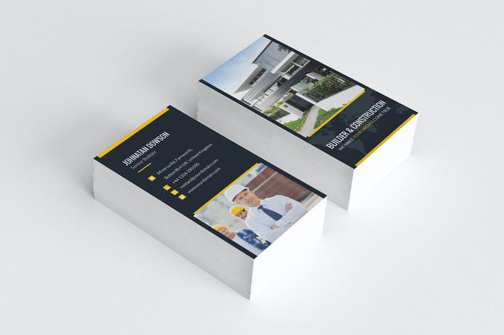 Cover Image For Business Card – Builder Vertical
