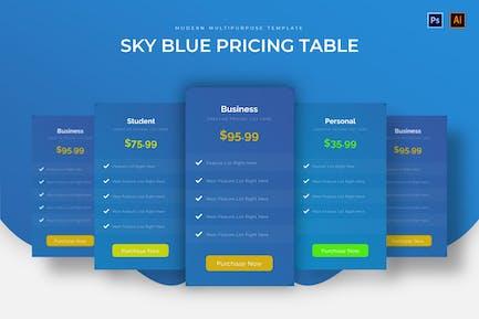 Sky Blue Pricelist