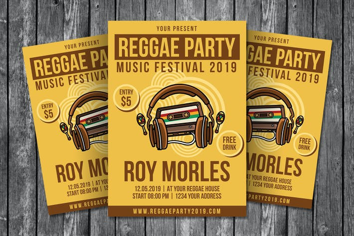 Thumbnail for Reggae Party Flyer Template