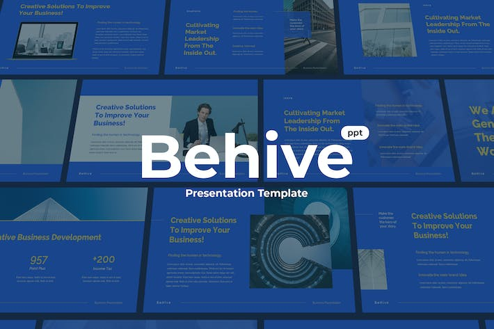 Thumbnail for Behive - Powerpoint Template Presentation