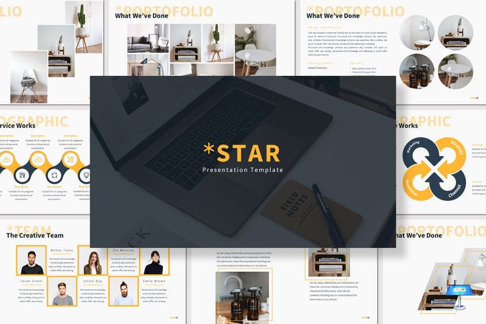Thumbnail for Star - Keynote Template