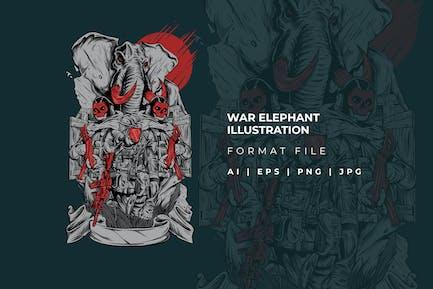 War Elephant Illustration