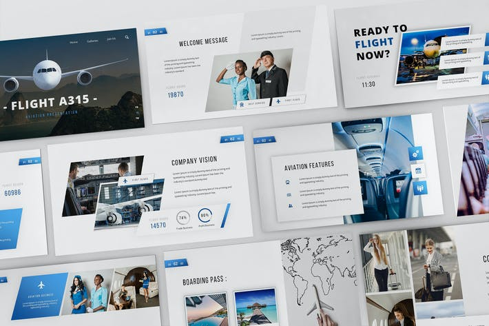 Flight A315 Powerpoint Presentation Template