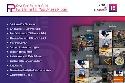 Fast Portfolio & Grid Elementor WordPress Plugin
