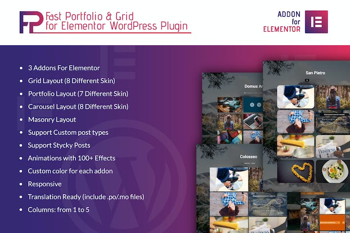 Thumbnail for Fast Portfolio & Grid Elementor WordPress Plugin