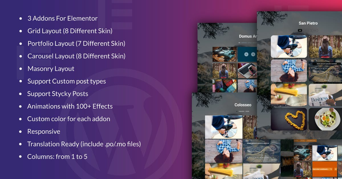 Download Fast Portfolio & Gridb Elementor WordPress Plugin by ad-theme