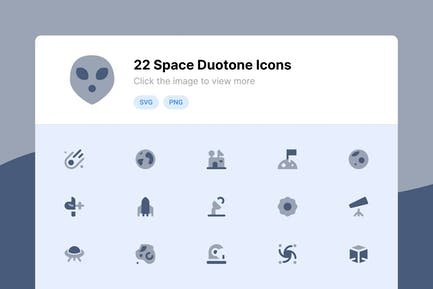 Space Duotone Icons