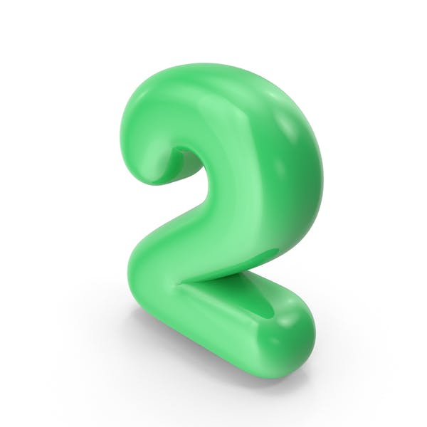 Green Toon Balloon Number 2