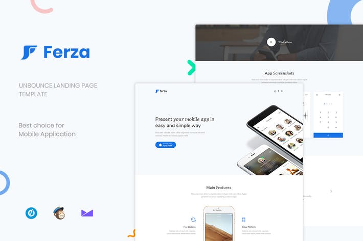 Cover Image For Ferza - Applications Unbounce Landing Page