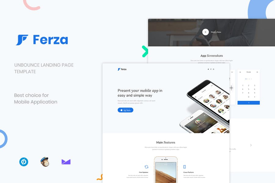 Ferza - Applications Unbounce Landing Page
