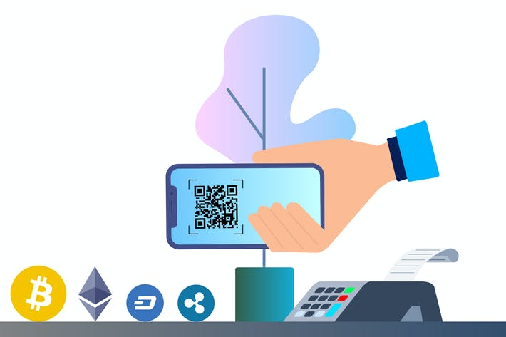 Thumbnail for Cryptocurrency Payment 2D Illustration