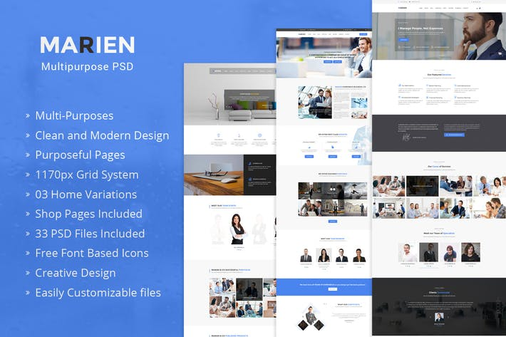 Thumbnail for Marien – MultiPurpose Business PSD Template