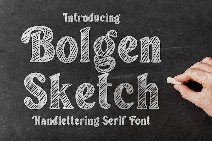 Bolgen Handlettering Con serifa Fuente