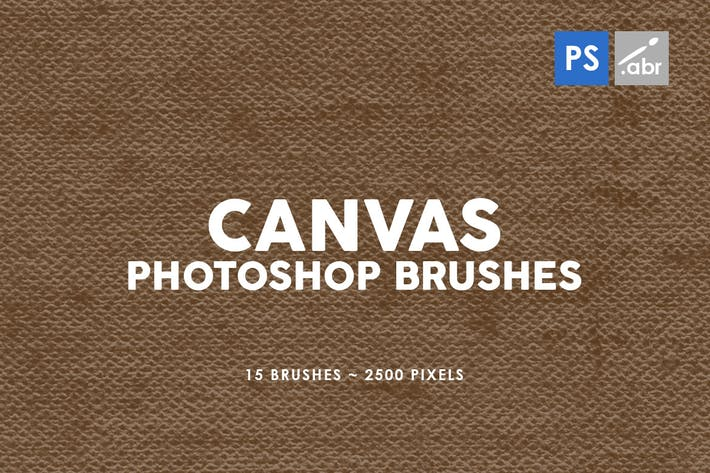 Thumbnail for 15 Canvas Photoshop Stamp Brushes