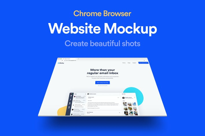 Thumbnail for Website Browser Mockup 02