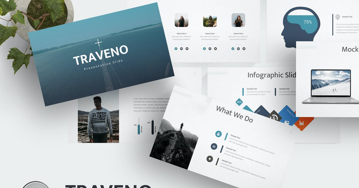 Download Traveno - Keynote  Template by aqrstudio